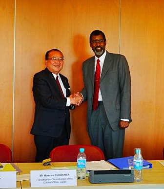 Vice-Minister Mr Fukuyama and NEA Director-General Mr Magwood